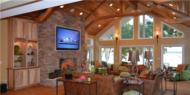 Lake house liberty group rentals for Great room addition plans